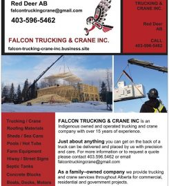 FALCON TRUCKING & CRANE INC Red Deer AB …403-596-5462