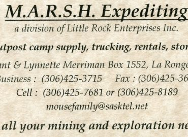 MARSH EXPEDITING – 306-425-3715 …LaRonge SK