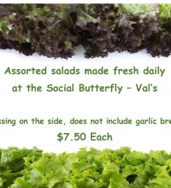 THE SOCIAL BUTTERFLY by  Val – 780-582-3541 …Forestburg Ab – homemade foods, baking, restaurant, perogies, cabbage rolls, fruit cakes, catering, fresh, frozen, eat in, take out, bakery