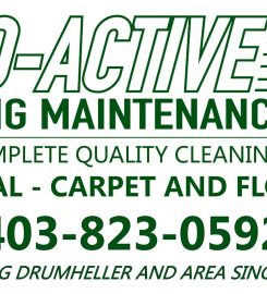 PRO-ACTIVE BUILDING MAINTENANCE – 403-823-0592 …Drumheller AB